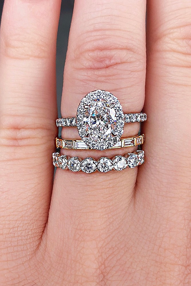 oval engagement rings modern diamond halo ring