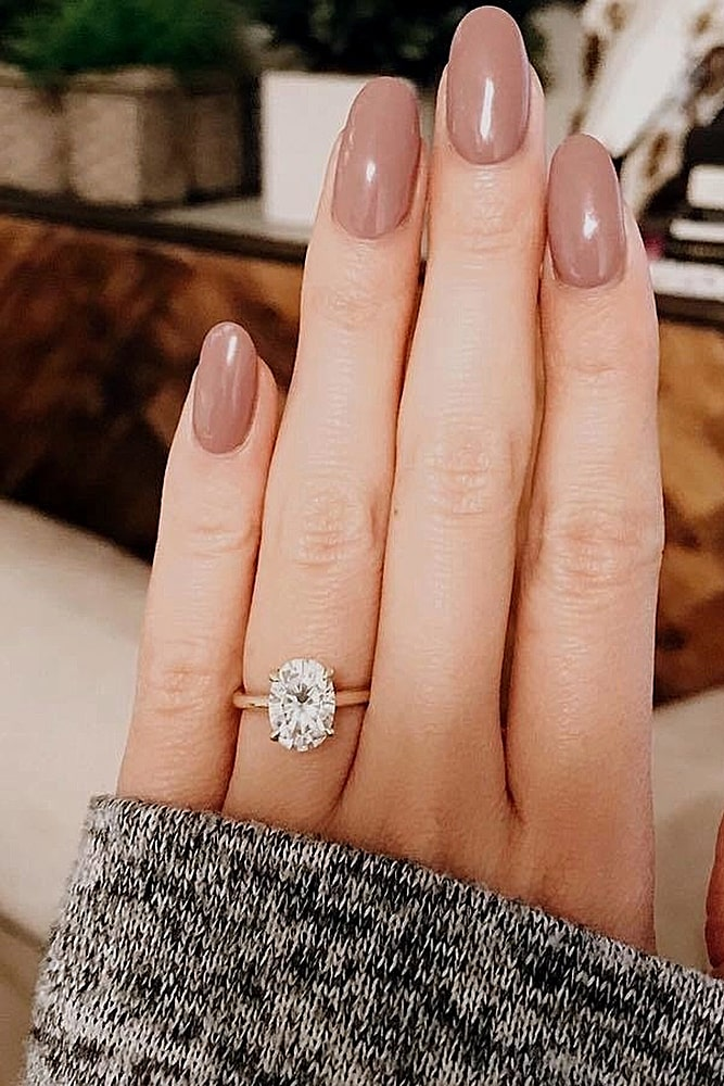 oval engagement rings simple gold solitaire ring