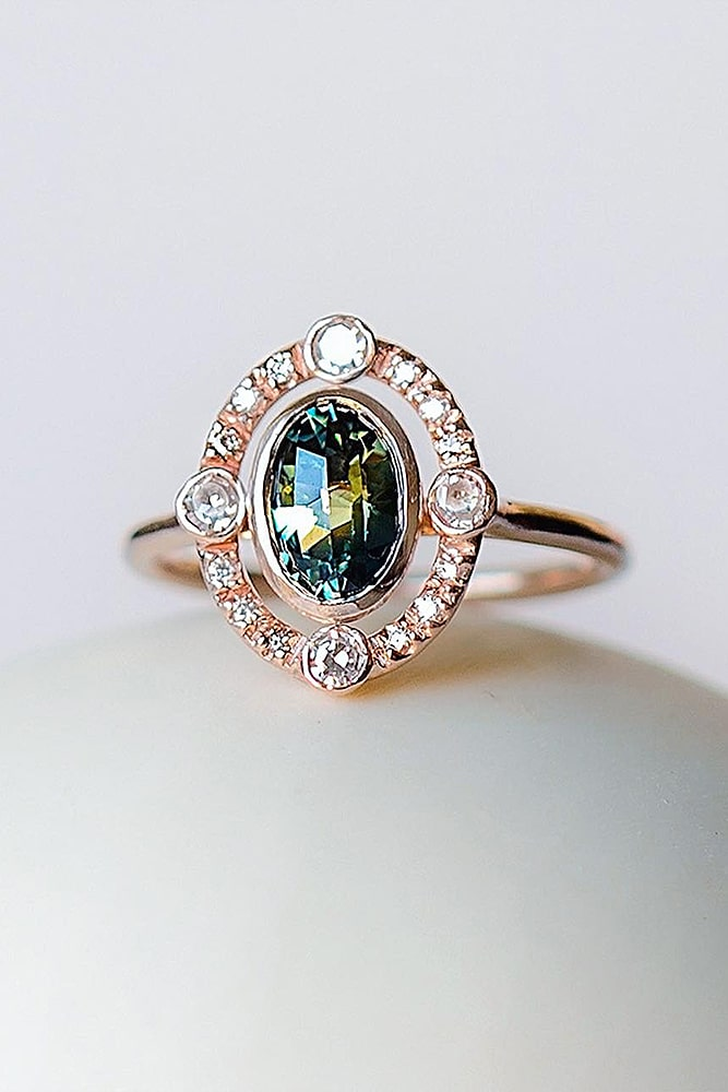 oval engagement rings vintage art deco gold ring