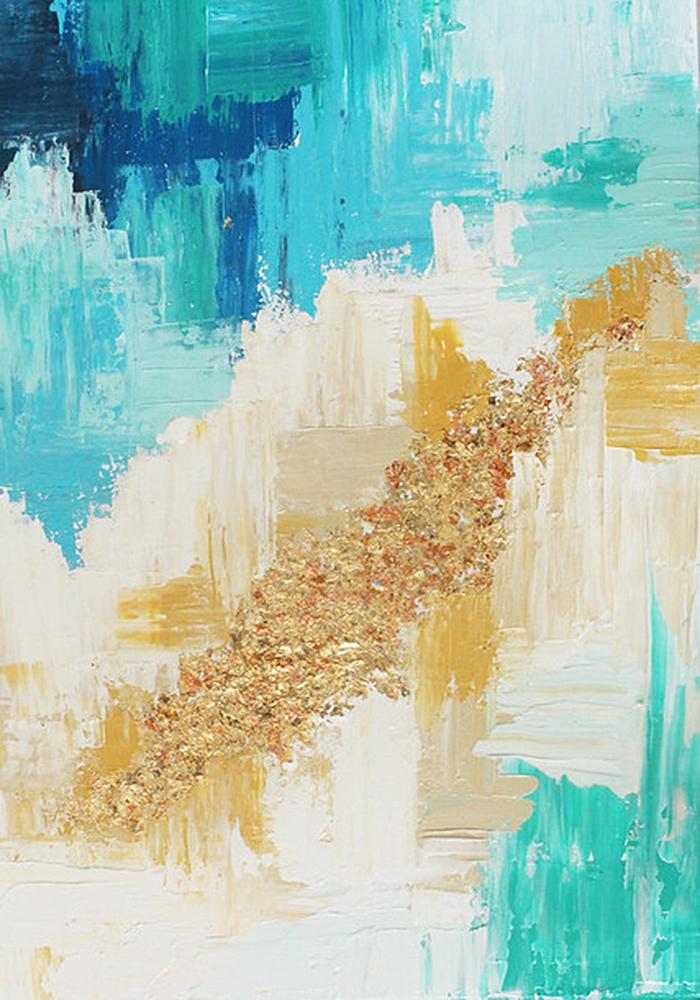 diy wall decor abstract art canvas