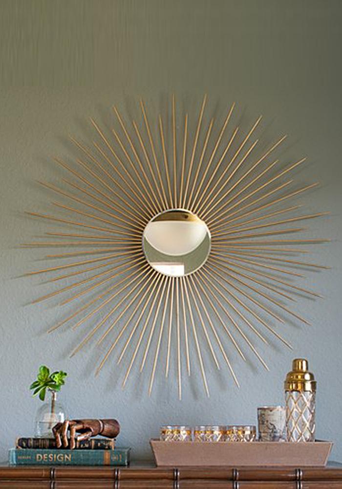 diy wall decor ideas diy sunburst mirror